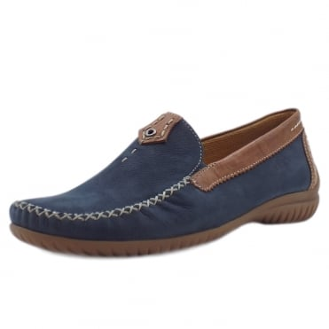 California Women's Wide Fit Loafer In Navy