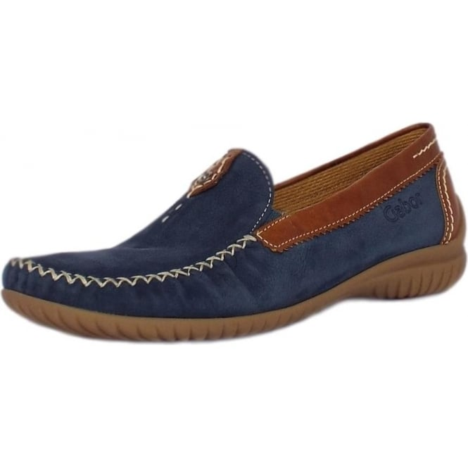 Gabor California Women's Wide Fit Loafer In Navy