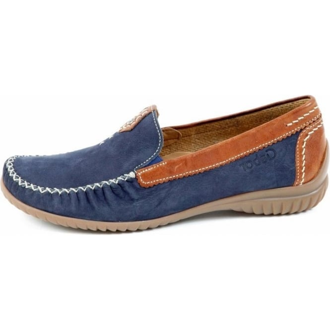 California Womens Wide Fitting Loafer In Navy