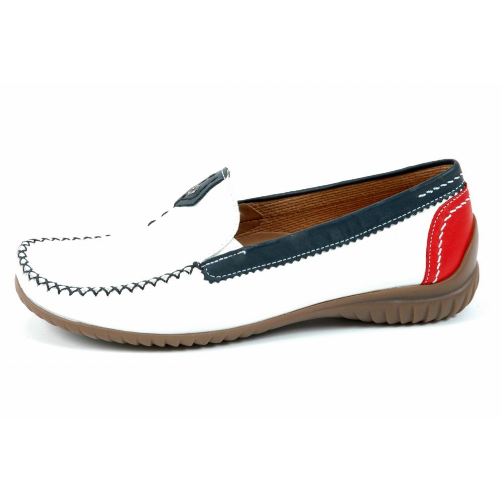 gabor shoes california womens wide fitting loafer in