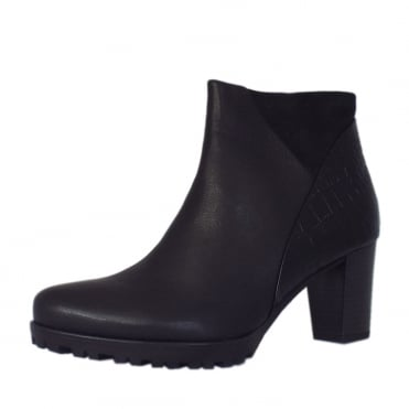 Calista Women's Modern Mid Heel Ankle Boots in Black