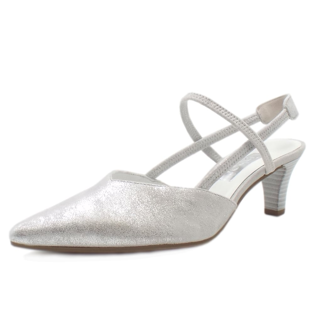 5d2af3e3a Castello Slingback Dressy Sandals in Ice