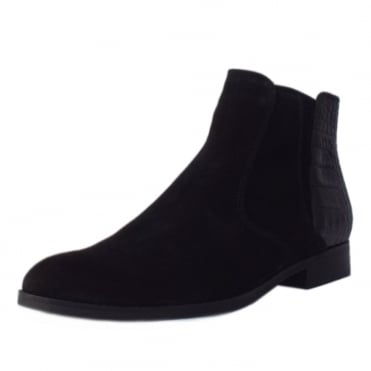 Chateau Modern Fashion Suede Ankle Boots In Black