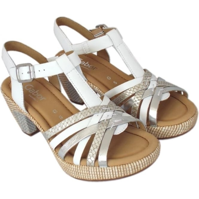 db3543102e547e Cheri Modern Wider Fit T-Bar Sandals in White Silver