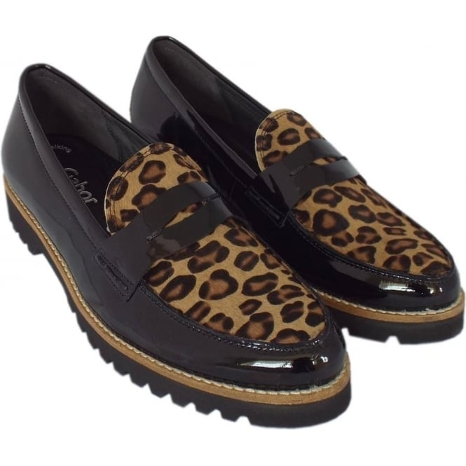 4cf8ea3505d Coy Women  039 s Smart Casual Wide Fit Loafers in Black Patent  amp