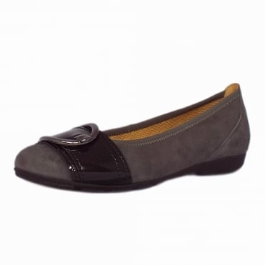 Cullin Casual Ballet Pumps in Dark Grey