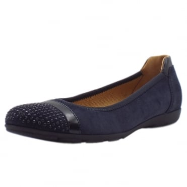 Dahma Modern Ballet Pumps in Navy