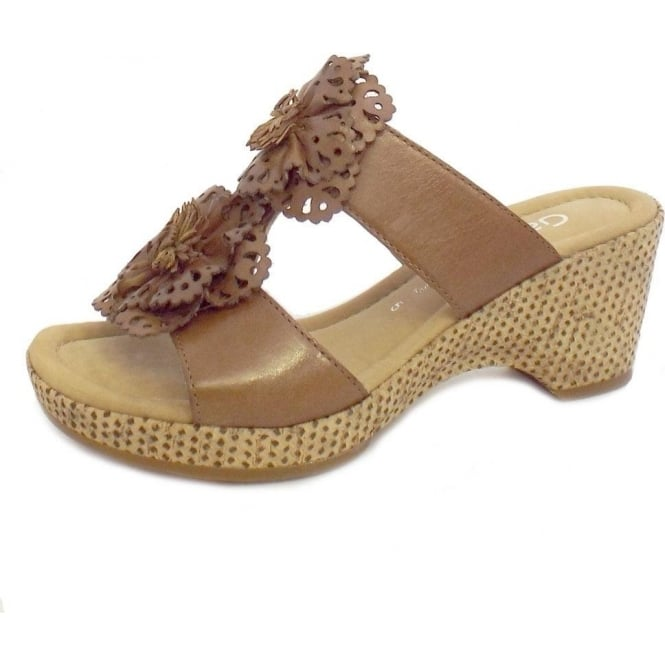 d5798a5663c Degner Floral Wedge Sandals in Tan