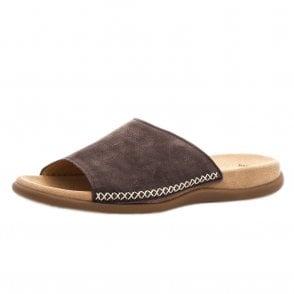 c176f3e8fa Gabor Rhona | Women's Modern Tan Leather Wedge Sandal | Mozimo