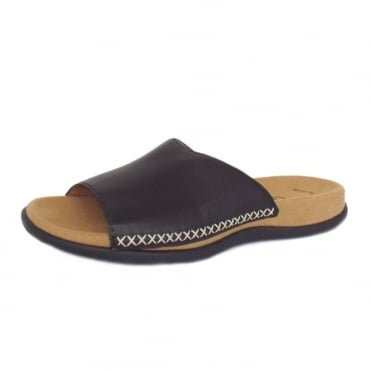 Gabor Eagle Womens Mule Sandal in Black Leather