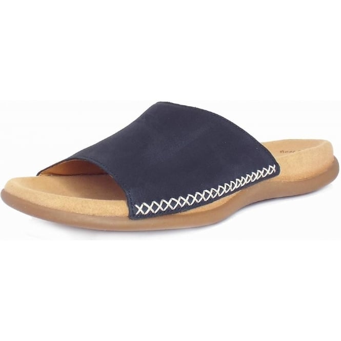 Gabor Eagle Womens Slip On Mule Sandal in Night Blue