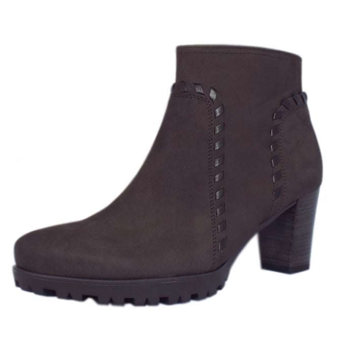 Gabor Elan Modern Sporty Mid Heel Ankle Boots in Vulcano