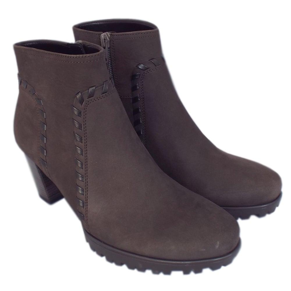 8c4b3fc4227 Elan Modern Sporty Mid Heel Ankle Boots in Vulcano