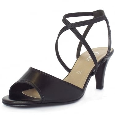 Gabor Elan Modern Strappy High Heel Sandals in Black