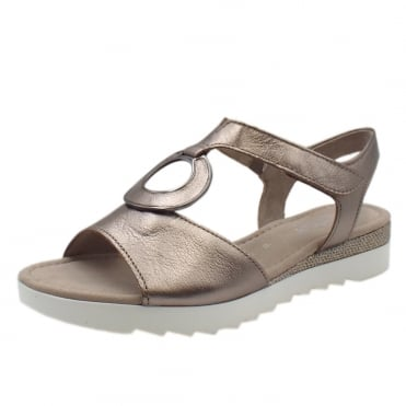 Ellis Modern Comfort Sandals in Pewter