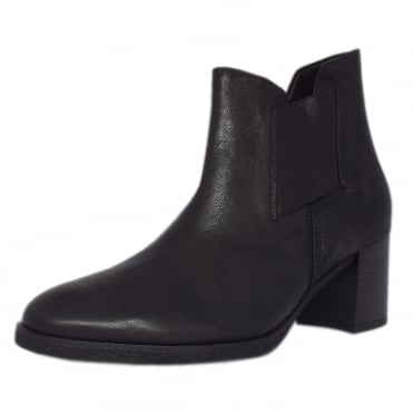 Elsa Modern Comfortable Mid Heel Ankle Boots in Leather