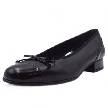 Emporium Classic Wide Fit Ballet Pump In Black