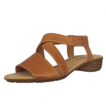 Ensign Modern Sling-back Sandals in Cognac