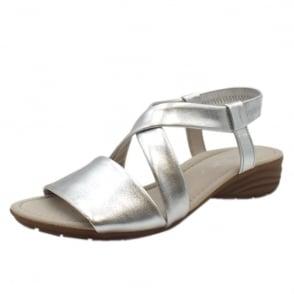 a83797747 Ensign Modern Sling-back Sandals in Silver