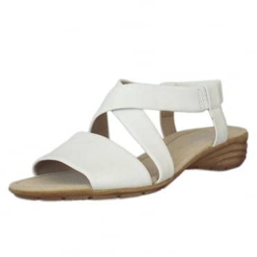 Ensign Modern Sling-back Sandals in White