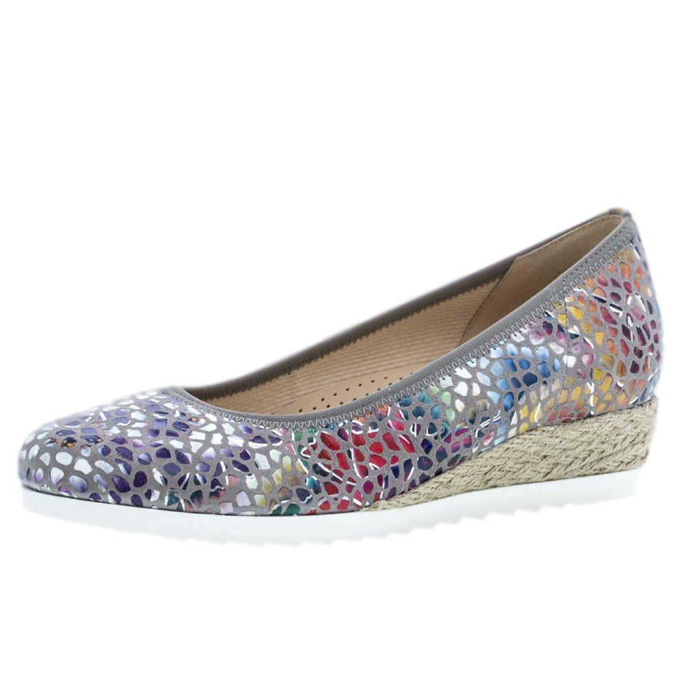 058f5f554 Gabor Epworth | Women's Flower Stone Wide Fit Low Wedge Casual Shoes