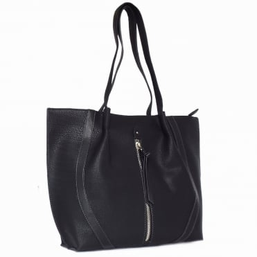 Evita Women's Structured Tote Bag in Black