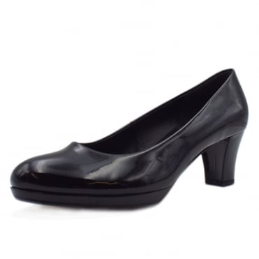 Figaro Classic Court Shoes In Black Patent