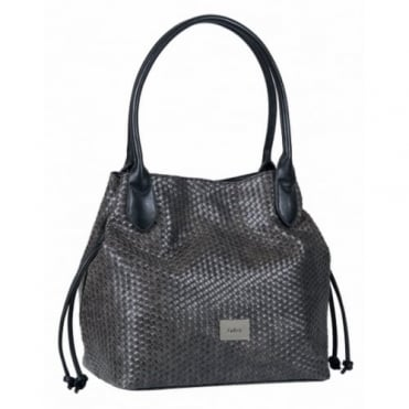 Gabor Granada Women's Shopper Tote Bag in Woven Effect Black