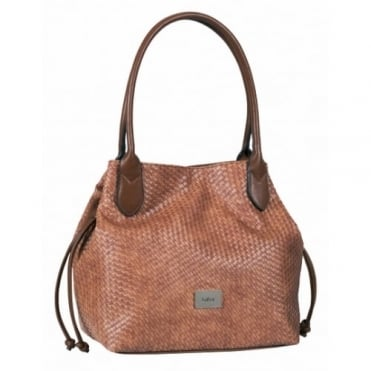 Gabor Granada Women's Shopper Tote Bag in Woven Effect Brown