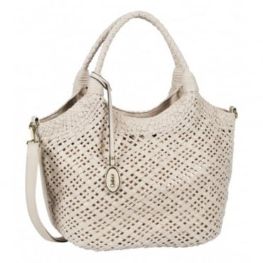 Gabor Grazia Women's Fashion Woven Effect Bag in Beige