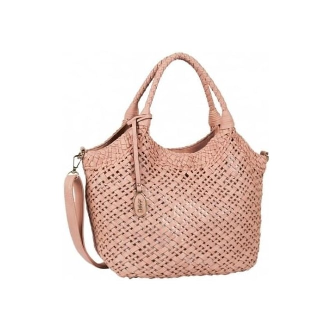 Gabor Grazia Women's Fashion Woven Effect Bag in Rose