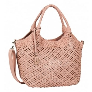 Grazia Women's Fashion Woven Effect Bag in Rose