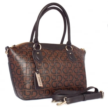 Graziana Women's Fashionable Medium Size Handbag in Brown