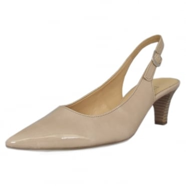 Hume 2 Pointed Toe Sling Back Shoes In Sand