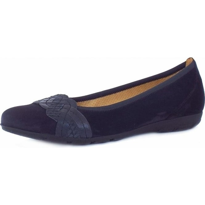 Gabor Hurst Women's Casual Sporty Pumps in Pacific Navy Suede