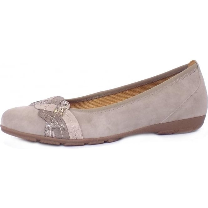 Gabor Hurst Women's Casual Sporty Pumps in Taupe Suede