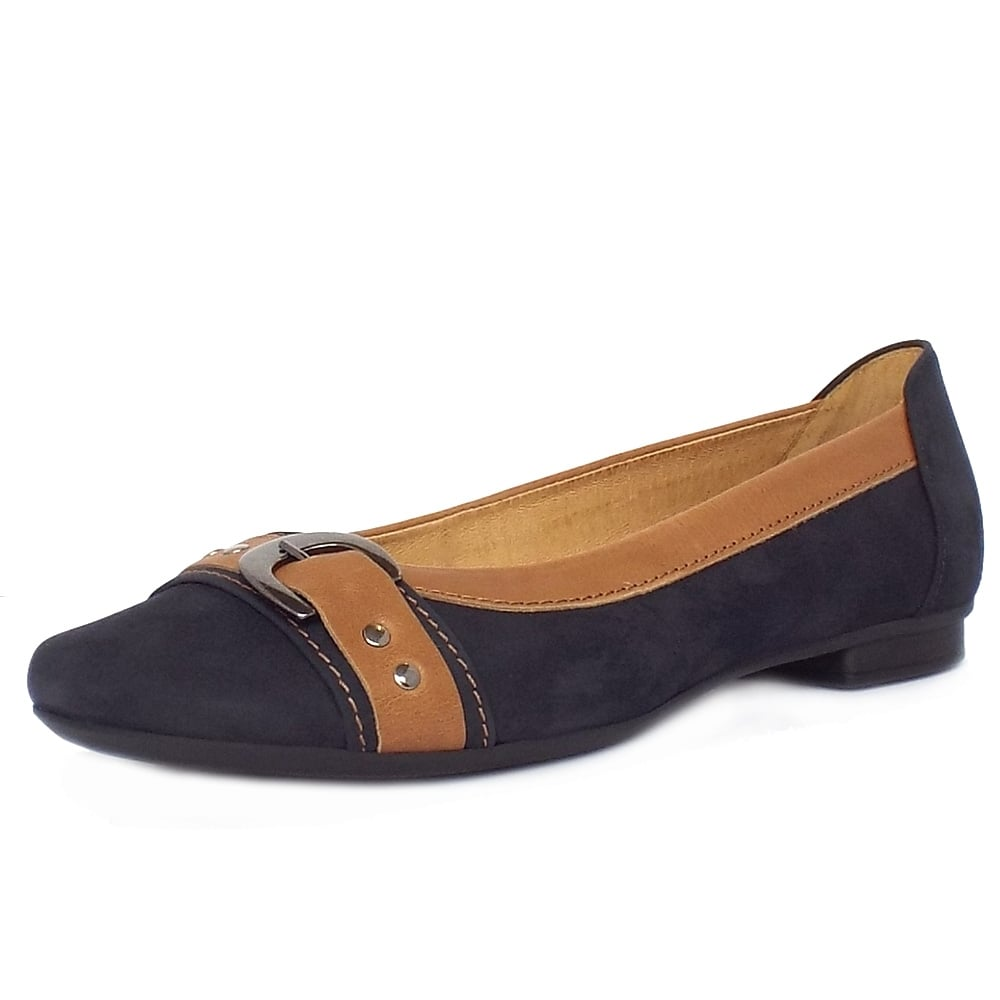 Gabor Indiana Casual Ballet Pumps in Night Blue