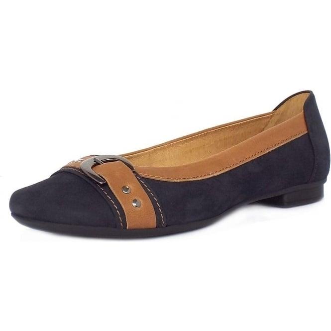 Indiana Casual Ballet Pumps in Night Blue
