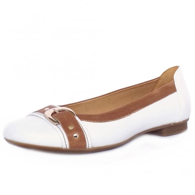 Gabor Indiana Casual Ballet Pumps in White