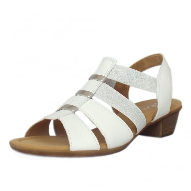 Gabor Joan Classic Lighweight Slip-On Sandals in White