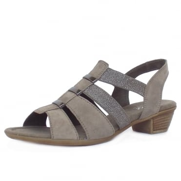Gabor Joan Women's Lighweight Slip-On Sandals in Mineral Grey