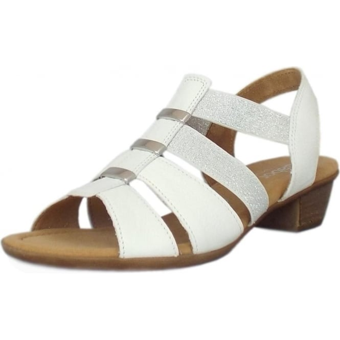 Gabor Joan Women's Lighweight Slip-On Sandals in White