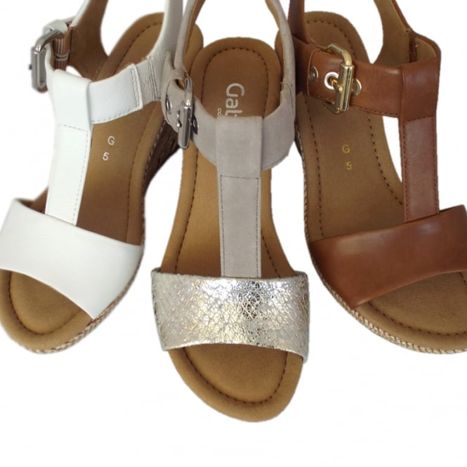 c00c416d7d466 Gabor Karen | Women's Modern Taupe Suede Wedge Sandal | Mozimo