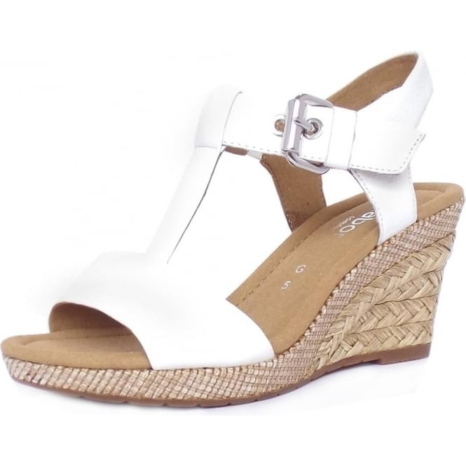 26483b00cbfd Karen Modern Wide Fit Wedge Sandals in White