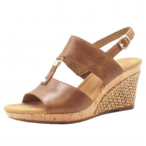 aca0c34a1d13 Keira Modern Wide Fit Wedge Sandals in Peanut