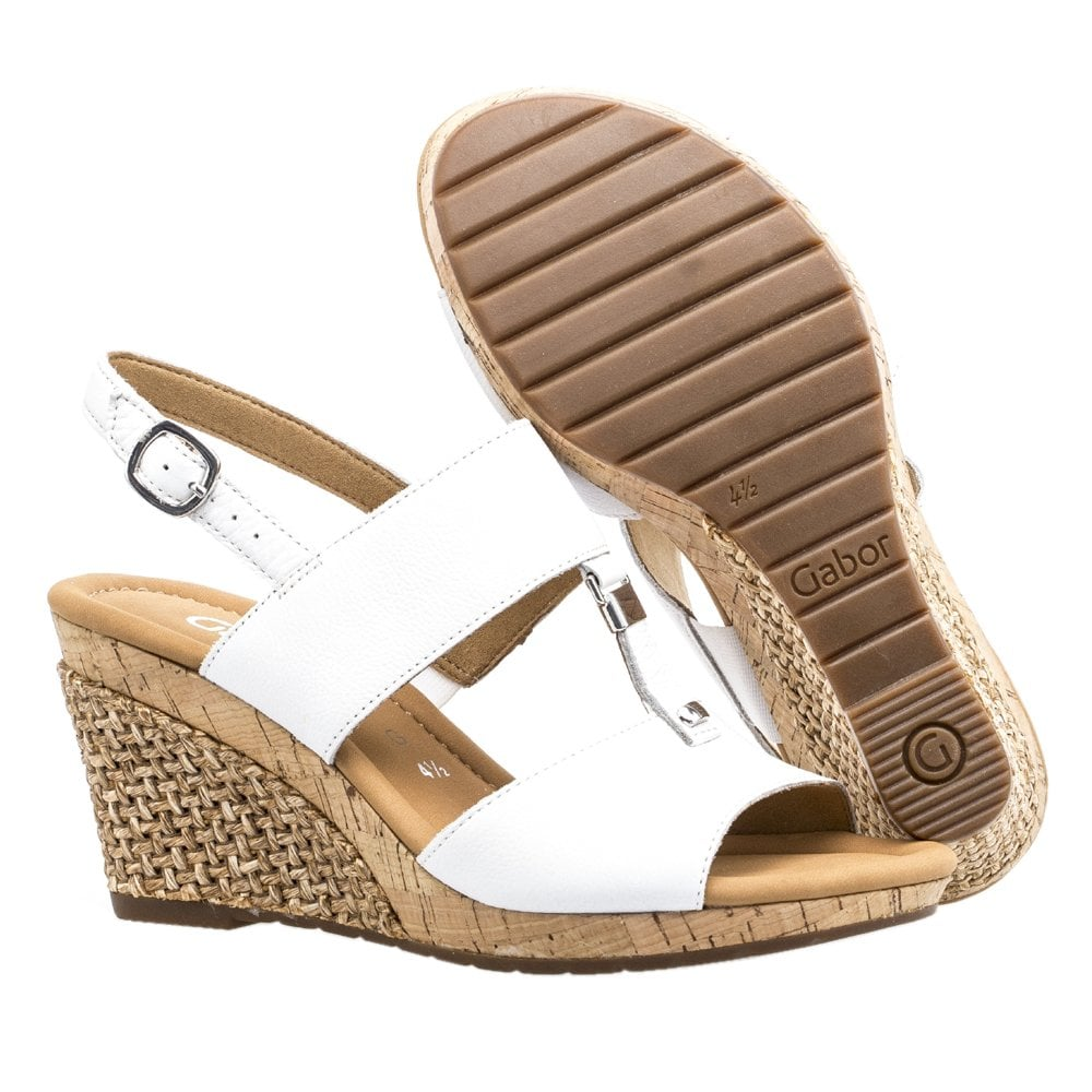 92148ae5de59 Keira Modern Wide Fit Wedge Sandals in White