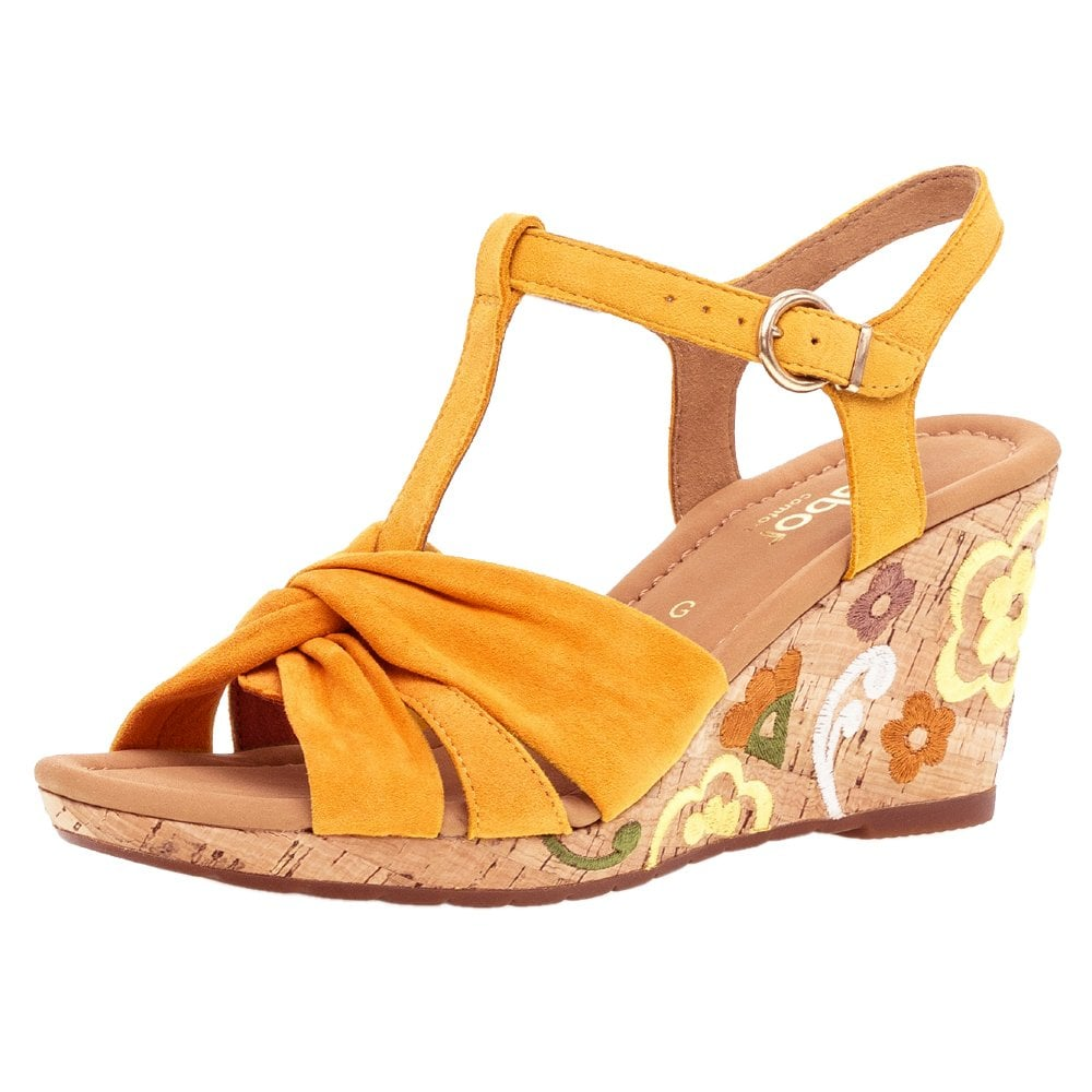 90bb038ff0d Kennedy Stylish Wide Fit Wedge Sandals in Mango