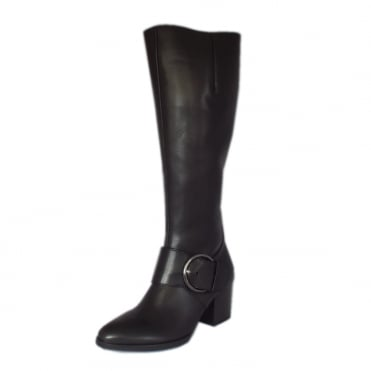 Lancaster Black Leather Knee High Boots