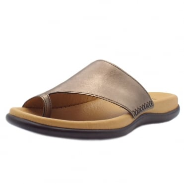Lanzarote Comfortable Sandal Mules in Antique Silver