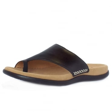 Lanzarote Comfortable Sandal Mules in Black